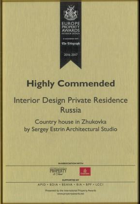 International Property Awards Zhukovka